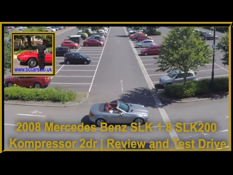 Review and Virtual Video Test Drive In Our 2008 Mercedes Benz SLK 1 8 SLK200 Kompressor 2dr SM08NFJ