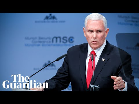 Pence hails 'remarkable, extraordinary' Trump tenure in attack on US allies