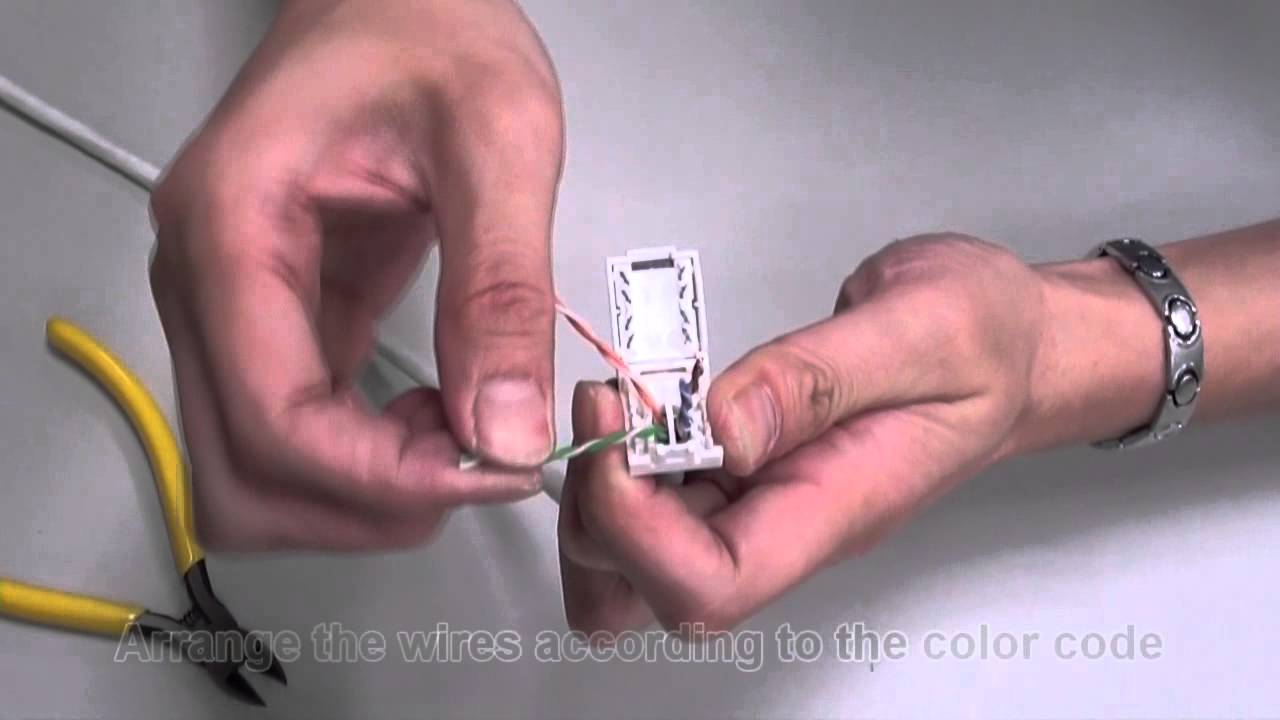 toolless cat 6a cat 6 cat 5e unshielded utp rj45 keystone jack how to terminate youtube [ 1280 x 720 Pixel ]