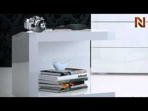 check out 78719 787f7 Modloft MD317-NS-LAQ Ludlow Nightstand White Lacquer