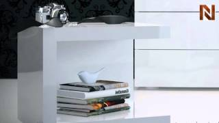 Modloft Md317-ns-laq Ludlow Nightstand White Lacquer