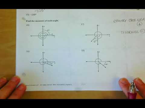 Coterminal, Reference, Measure of Angle