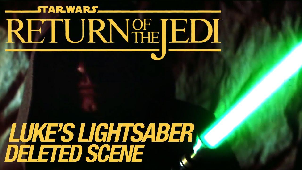 Star Wars Vi Return Of The Jedi Deleted Scene Lukes Lightsaber