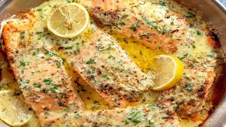 Baked Salmon with Leṁon Butter Cream Sauce