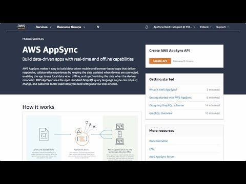 Creating Your First AWS AppSync GraphQL API