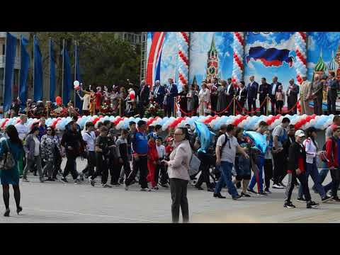Школы Анапы на параде 1 мая 2019 г.