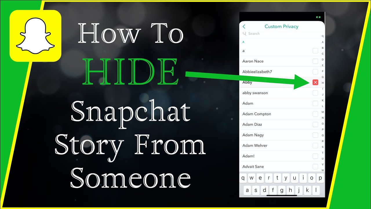 How To Hide Your Snapchat Story From Anyone