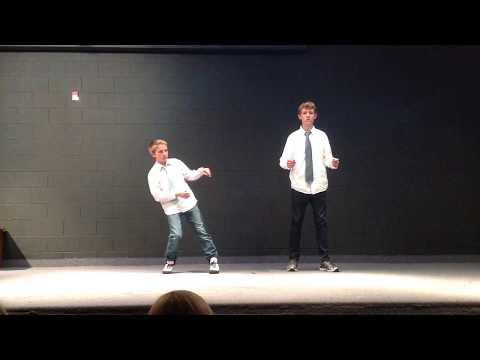 Reagan Academy Student Talent Show, Dubstep Dance by Ethan and Simon, 2014