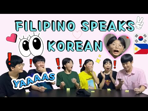 Korean Reaction when Filipino speaks in Korean so well | GAILING SIYA MAG KOREAN | Filipino reaction