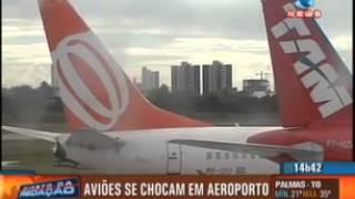 Dois aviões se chocam na pista de pouso em aeroporto de Aracaju SE thumbnail