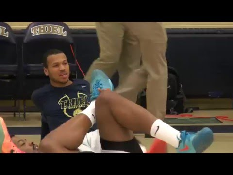 Thiel College Men's Basketball Senior Night feat. Khari Bess