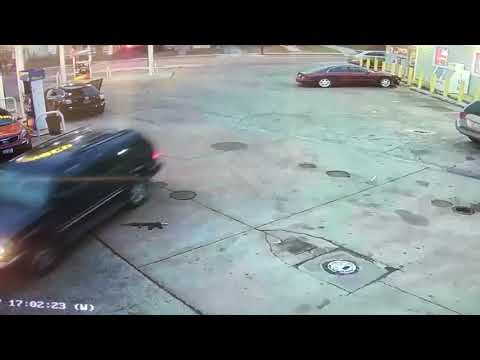 Watch the daytime shootout at a Cleveland gas station that left 3 injured