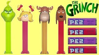 The Grinch Pez Candy Dispensers With Max Dog, Cindy Lou & Reindeer