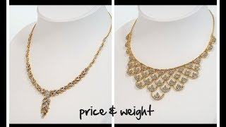 LIGHT WEIGHT GOLD NECKLACE SETS BY JEWELERS || LIFESTYLE