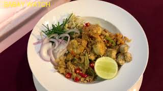 Pad Thai food recipe  making by professional chef in five star hotel