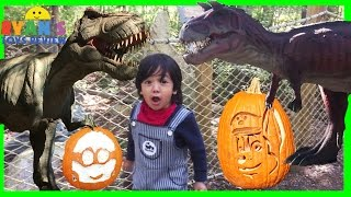 giant life size dinosaur paw patrol disney pumpkins dino land family fun amusement theme park