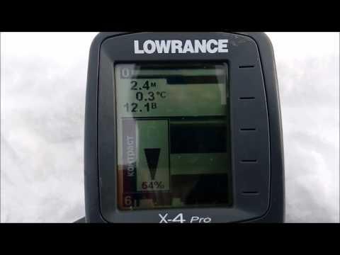 Настройки эхолота Lowrance x-4 Pro для подледного лова