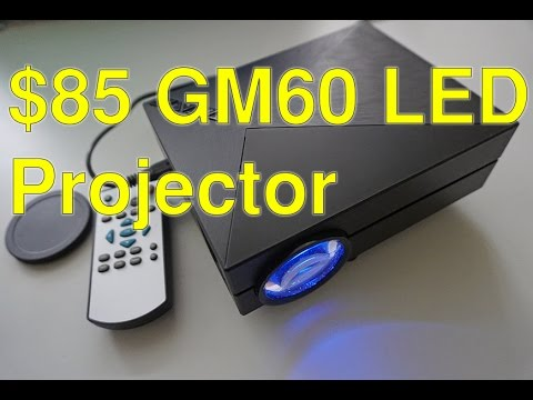 $75 GM60 1000 lm LED projector review+Full budget home cinem
