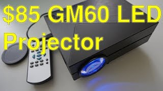 $75 GM60 1000 lm LED projector review+Full budget home cinema setup