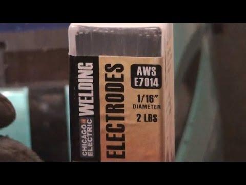 Harbor Freight Welding Electrodes 1/16 E7014