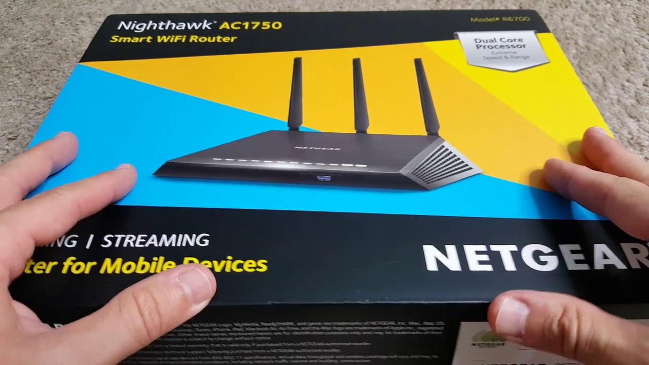 Unboxing Netgear AC1750 Nighthawk Smart WiFi Router