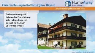Tegernseer Tal/Schliersee: Ferienwohnung mit liebevoller Einrichtung, sehr - FeWo-direkt.de Video