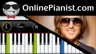 David Guetta ft. Taped Rai - Just One Last Time - Piano Tutorial