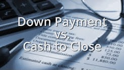 Heckman Mortgage - Down Payment vs Cash to Close