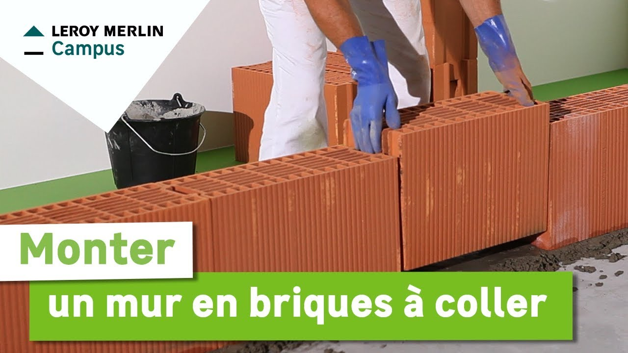 Comment monter un mur en briques coller leroy merlin youtube - Monter un mur en brique ...