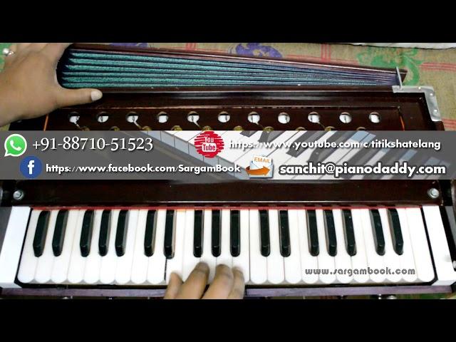 Tujhe Dekha To Yeh Jaana Sanam (Dilwale Dulhania Le Jayenge) Harmonium Tutorial