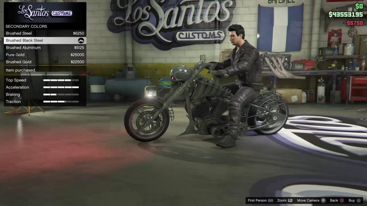 Gta 5 Ghost Rider Bike Customization Lcc Sanctus Youtube