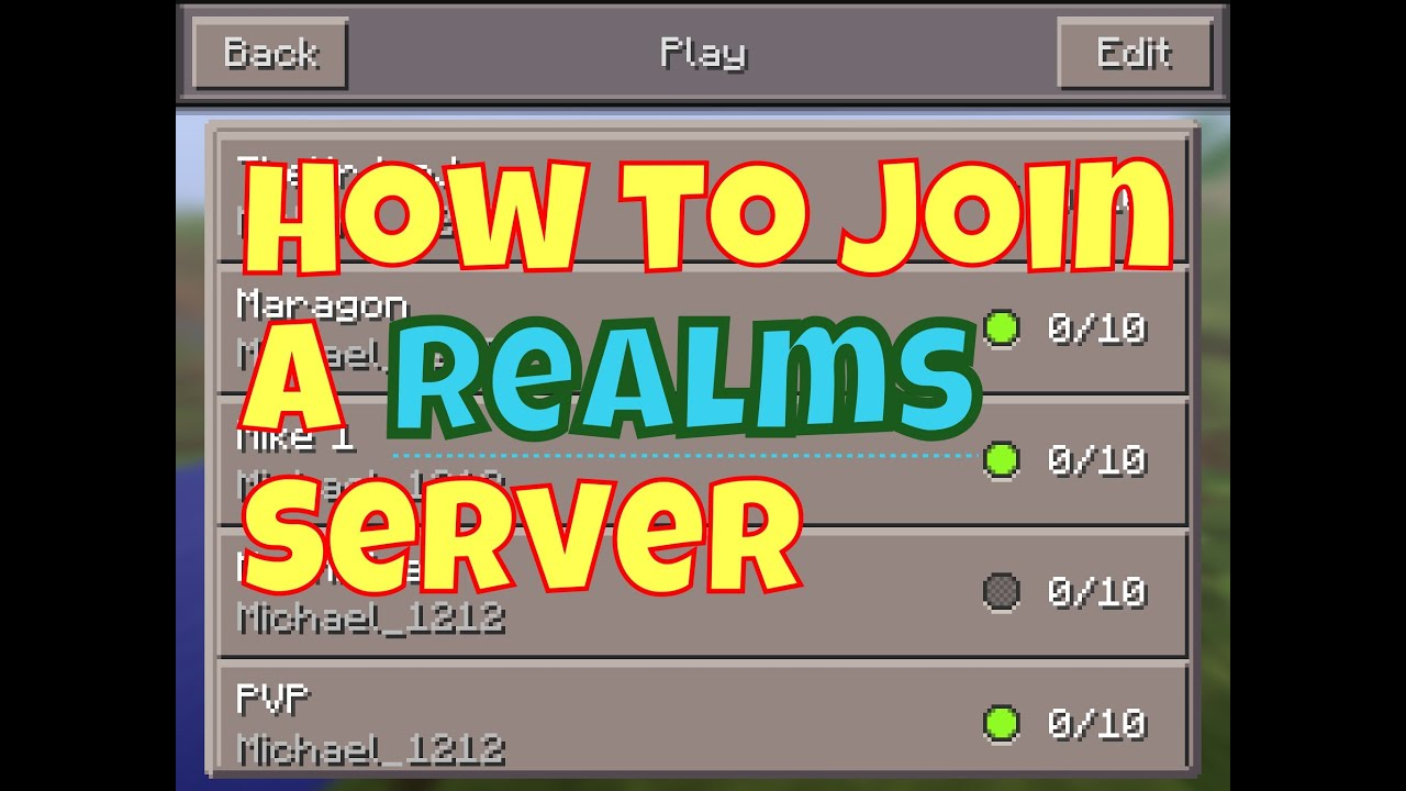 Minecraft PE - How to Join a Pocketmine Realms Server - YouTube