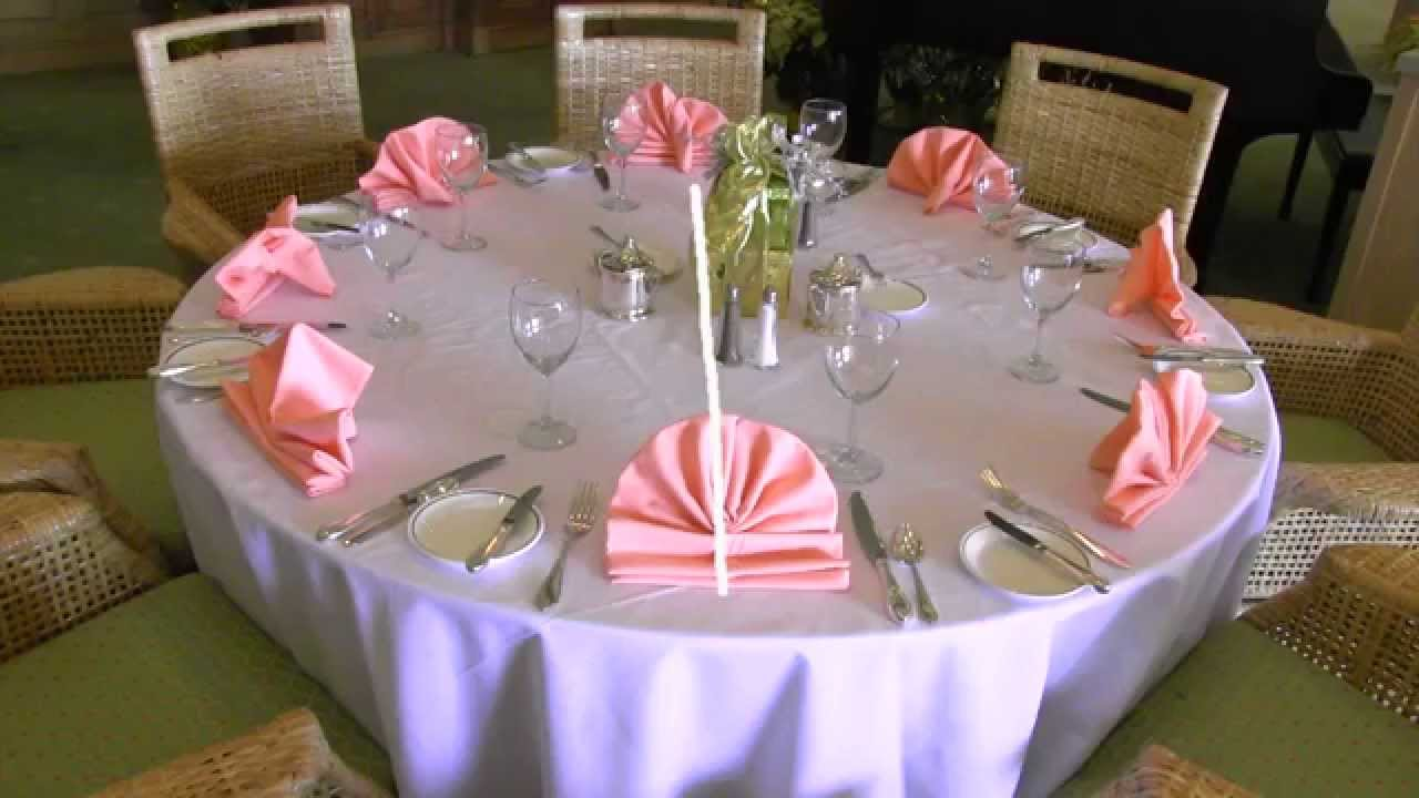 Banquet Table Setting Part - 48: Setting Banquet Tables Training Video - YouTube