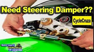 Need Steering Damper (Stabilizer) for Motorcycle?? | MotoVlog