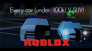 (Most) CARS UNDER 100K V SUV! | Roblox Jailbreak!