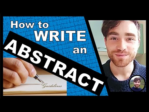 Writing An ABSTRACT For A Research Paper - How To Write An Abstract - PhD Vlog!