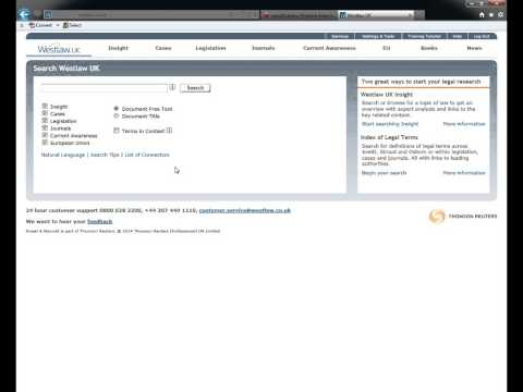 Accessing legal databases