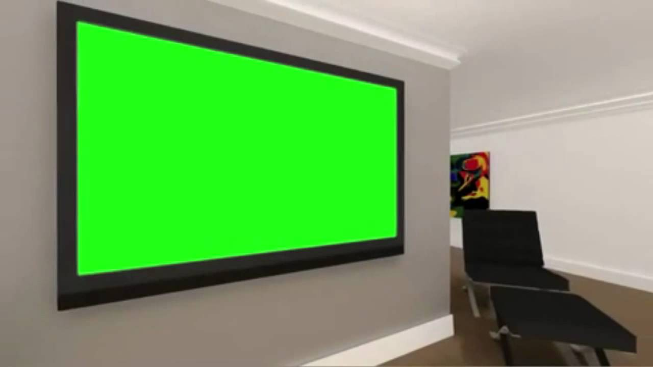 FREE HD Green Screen Background Virtual Room With Green Screen TV   YouTube