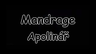 Mandrage - Apolinář | TEXT | Pavel Kozler