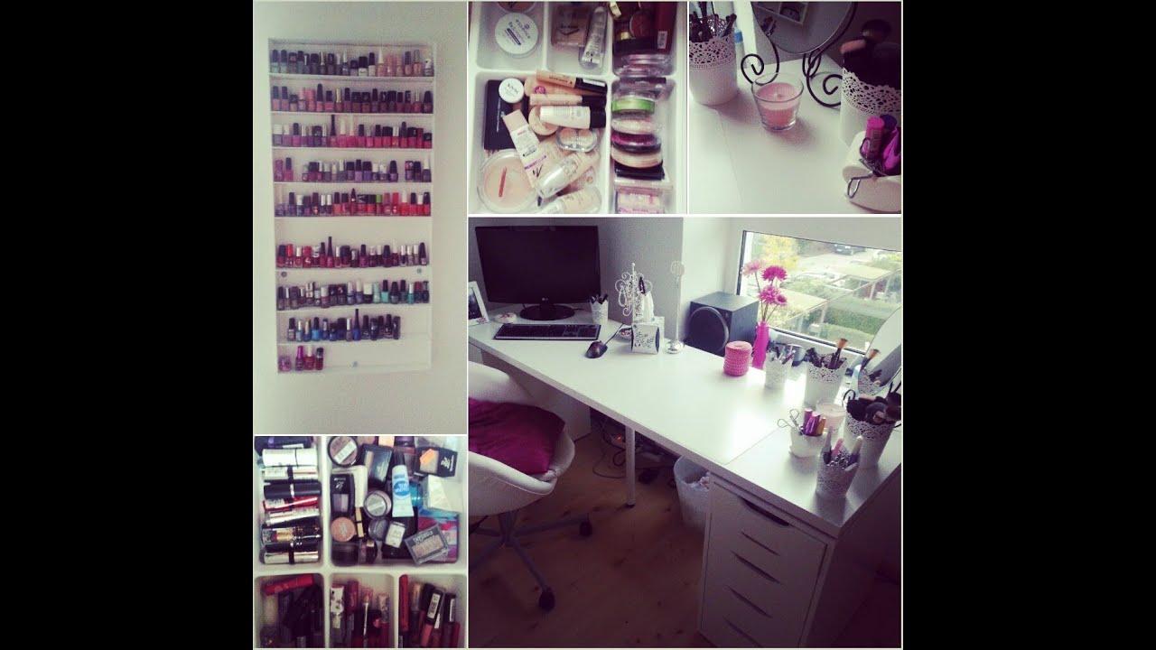 schminktisch schminkecke einblick in meine. Black Bedroom Furniture Sets. Home Design Ideas