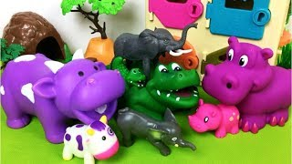 Animals ZOO Toys Baby Find Mom - Learn Animals Names and Sounds Educational Toys for Kids