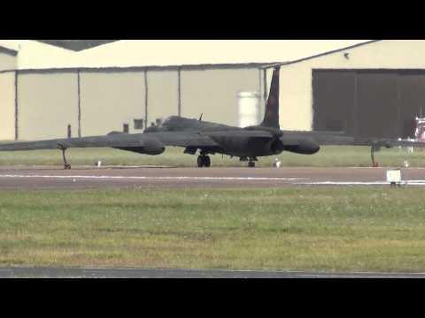 Lockheed U2 Spy Plane departs RAF Fairford