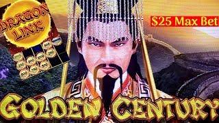 DRAGON LINK Golden Century Slot Machine - BIG WIN- $25 Max Bet BONUS | LIVE Slot Play w/NG Slot
