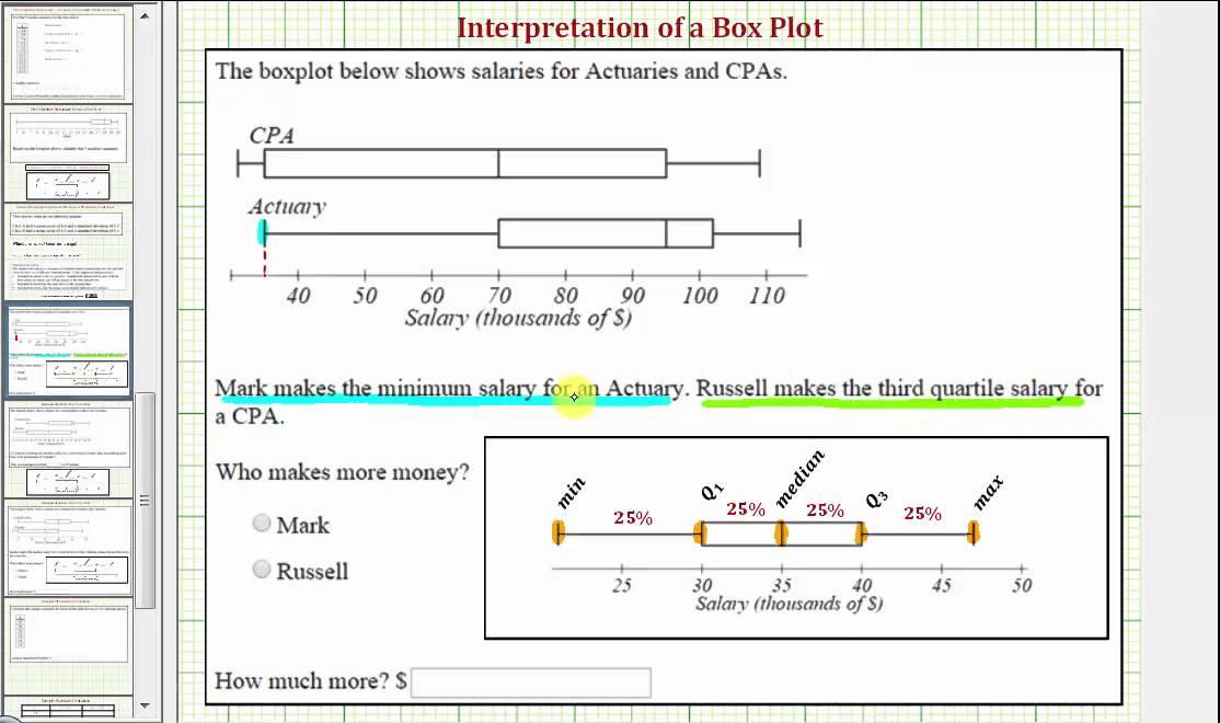 Ex 1: Compare Two Box Plot Values