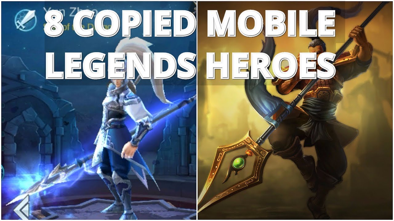 Top 8 Mobile Legends Heroes That Are Copied | MOBA | The Most Copied ML  Heroes!