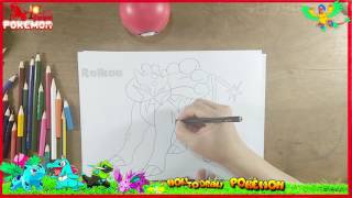 How to Draw Raikou (Pokémon) Baby Coloring Pages | Kids Learn Drawing | Coloring for Children
