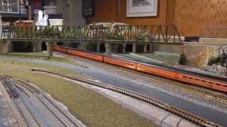 rail fanning on my layout watching run bys of my sp cab forward and passenger set