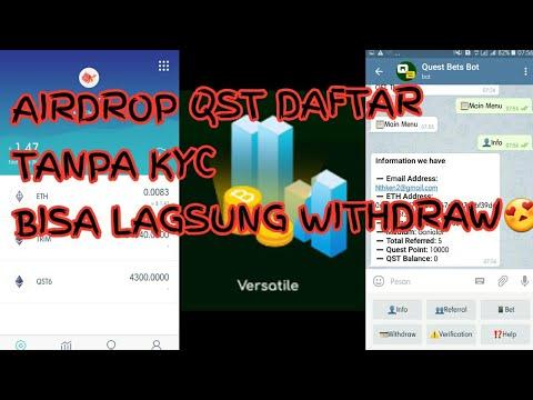 Air Drop QST Daftar Lagsung Withdraw Tnpa Kyc