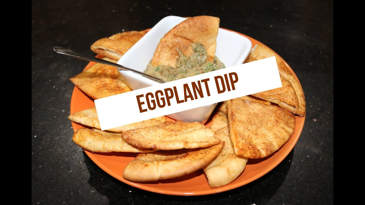 Roasted Eggplant with Spiced Pita Chips