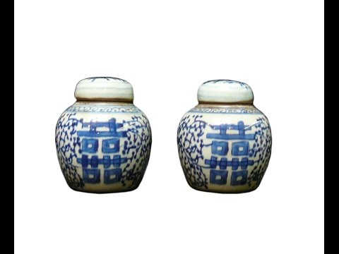 Chinese Vintage Blue & White Porcelain Ginger Jar cs1000A from YouTube · Duration:  31 seconds